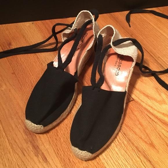 290f87e66 Andre Assous Shoes | Espadrilles Lace Up Black | Poshmark